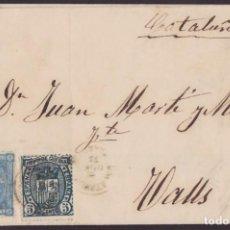 Sellos: 1875. 3 CARTAS 5 CTS. IMPUESTO DE GUERRA ED. 154 Y 10 CTS. PESETA ED. 164. BONITO CONJUNTO.. Lote 202979832