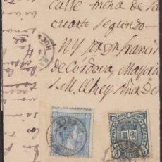 Sellos: 1875. 3 CARTAS 5 CTS. IMPUESTO DE GUERRA ED. 154 Y 10 CTS. PESETA ED. 164. BONITO CONJUNTO.. Lote 202980242