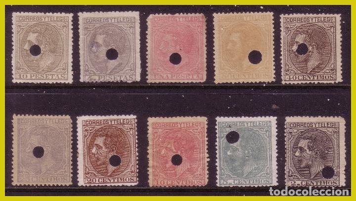 TELÉGRAFOS 1879 ALFONSO XII, EDIFIL Nº 200T A 209T (O) COMPLETA (Sellos - España - Alfonso XII de 1.875 a 1.885 - Usados)