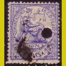 Timbres: TELÉGRAFOS 1874 ALEGORÍA DE LA JUSTICIA, EDIFIL Nº 145T (O). Lote 203169477