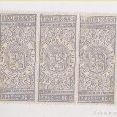 Timbres: TIRA DE 3 SELLOS FISCALES.IMPUESTO DE GUERRA.. Lote 203825151