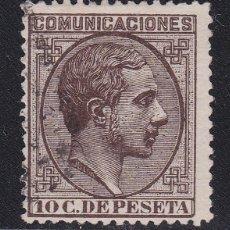 Timbres: 1878. ALFONSO XII 10 C. CASTAÑO SELLO USADO EDIFIL Nº 192. Lote 204054651