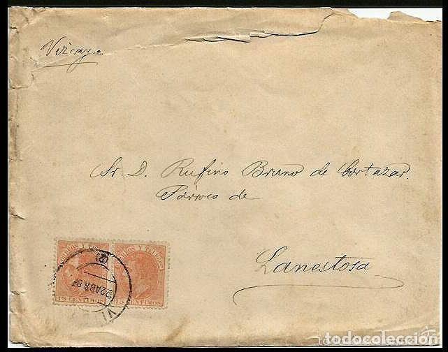 CARTA EDIFIL 210 GRAN DEFECTO (Sellos - España - Alfonso XII de 1.875 a 1.885 - Cartas)