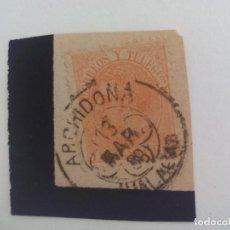 Sellos: SELLO DE 15 CÉNTIMOS MATASELLOS DE ARCHIDONA, MÁLAGA. ESPAÑA - ALFONSO XII 1882. Lote 205695806