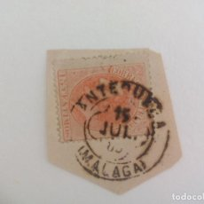 Sellos: SELLO DE 15 CÉNTIMOS MATASELLOS DE ANTEQUERA, MÁLAGA. ESPAÑA - ALFONSO XII 1882. Lote 205696693