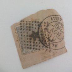 Sellos: SELLO DE 25 CÉNTIMOS . MATASELLOS ROMBO DE PUNTOS CON ESTRELLA. ALORA. ESPAÑA - ALFONSO XII 1879. Lote 205816015