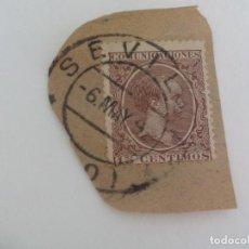 Sellos: SELLO ALFONSO XII. MATASELLOS SEVILLA. PELON, 15 CENTIMOS, 1889. Lote 205818000