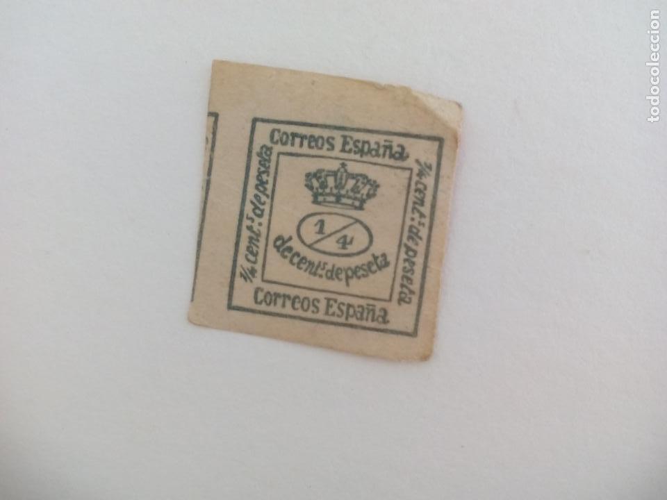 SELLO DE 1/4 DE CÉNTIMO DE PESETA (Sellos - España - Alfonso XII de 1.875 a 1.885 - Usados)