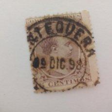 Sellos: SELLO ALFONSO XII. MATASELLOS ANTEQUERA. MALAGA. PELON, 15 CENTIMOS, 1889. Lote 206287685