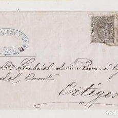 Sellos: ENVUELTA. SANTANDER, CANTABRIA, 1874. IMPUESTO DE GUERRA. FECHADOR. Lote 206470492