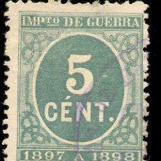 Sellos: ESPAÑA EDIFIL 232 (º) 5 CÉNTIMOS VERDE CIFRAS 1897 NL576. Lote 207010771