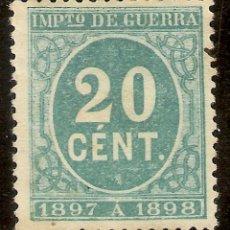 Sellos: ESPAÑA EDIFIL 235* MH 20 CÉNTIMOS VERDE CIFRAS 1897 NL1009. Lote 207012620