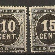 Sellos: ESPAÑA EDIFIL 236/239 (*) MNG SERIE COMPLETA CIFRAS EN NEGRO 1898 NL835. Lote 207013448