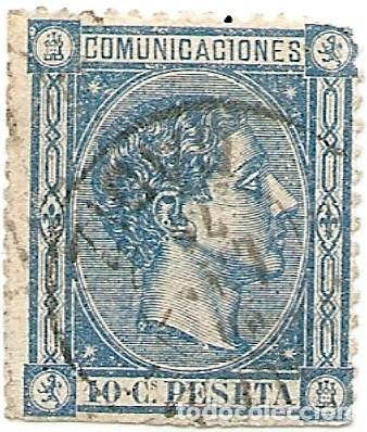 COMUNICACIONES - 1876 - 10 CÉNTIMOS (Sellos - España - Alfonso XII de 1.875 a 1.885 - Usados)