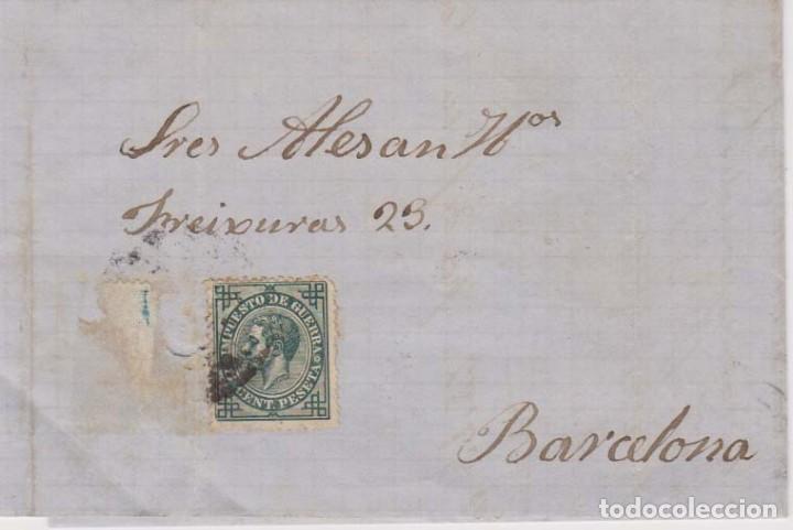AÑO 1876 EDIFIL 183 ALFONSO XII METASELLOS PALMA ENRIQUE RAMIS (Sellos - España - Alfonso XII de 1.875 a 1.885 - Cartas)