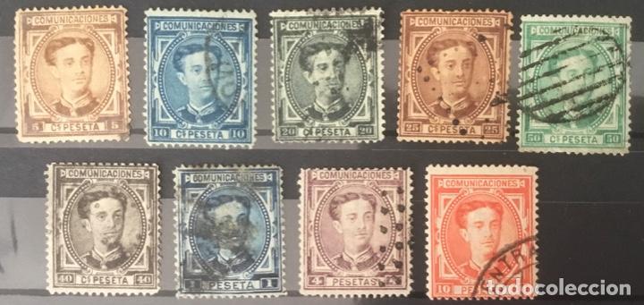 1876 - ESPAÑA ALFONSO XII. FILIGRANA CASTILLO - EDIFIL 174/182 (Sellos - España - Alfonso XII de 1.875 a 1.885 - Usados)