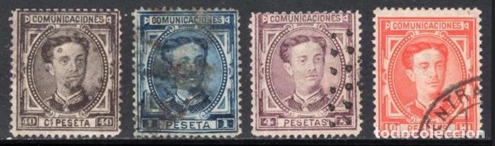 Sellos: 1876 - España Alfonso XII. Filigrana castillo - Edifil 174/182 - Foto 3 - 208867073