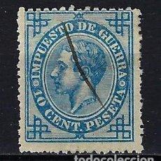 Sellos: 1876 ESPAÑA EDIFIL 184 ALFONSO XII IMPUESTO DE GUERRA USADO. Lote 210028223