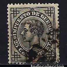 Sellos: 1876 ESPAÑA EDIFIL 185 ALFONSO XII IMPUESTO DE GUERRA USADO. Lote 210028261