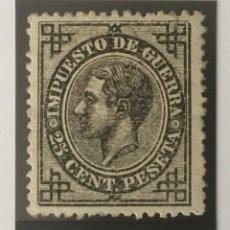 Sellos: 1876-ESPAÑA ALFONSO XII EDIFIL 185 MH* 25 CENTIMOS NEGRO IMPUESTO DE GUERRA - NUEVO -. Lote 210312012