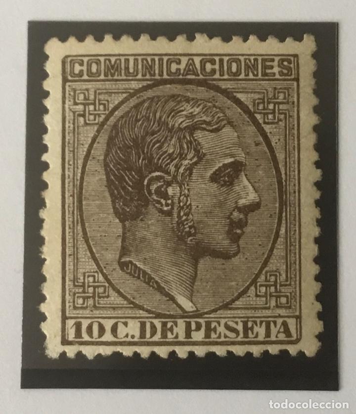 1878-ESPAÑA ALFONSO XII EDIFIL 192 MH* 10 CÉNTIMOS CASTAÑO - NUEVO - (Sellos - España - Alfonso XII de 1.875 a 1.885 - Nuevos)