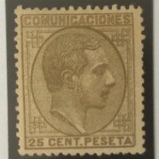 Sellos: 1878-ESPAÑA ALFONSO XII EDIFIL 194 (*) 20 CÉNTIMOS OLIVA - NUEVO -. Lote 210315645