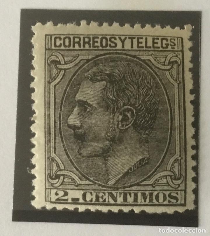 1879-ESPAÑA ALFONSO XII EDIFIL 200 MNH** 2 CÉNTIMOS. NEGRO GRISÁCEO - NUEVO SIN CHARNELA - (Sellos - España - Alfonso XII de 1.875 a 1.885 - Nuevos)