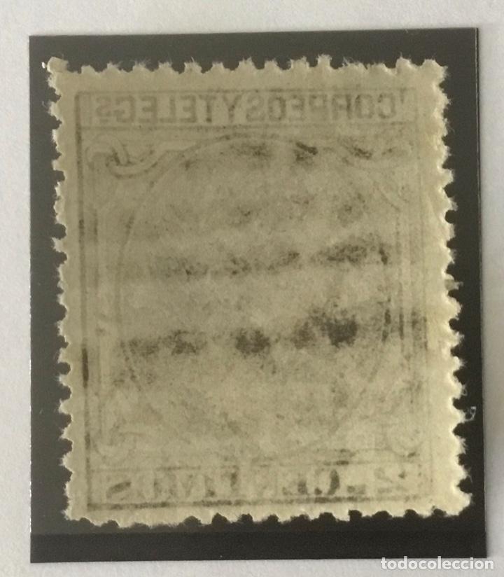Sellos: 1879-ESPAÑA ALFONSO XII EDIFIL 200 MNH** 2 CÉNTIMOS. NEGRO GRISÁCEO - NUEVO SIN CHARNELA - - Foto 2 - 210378320