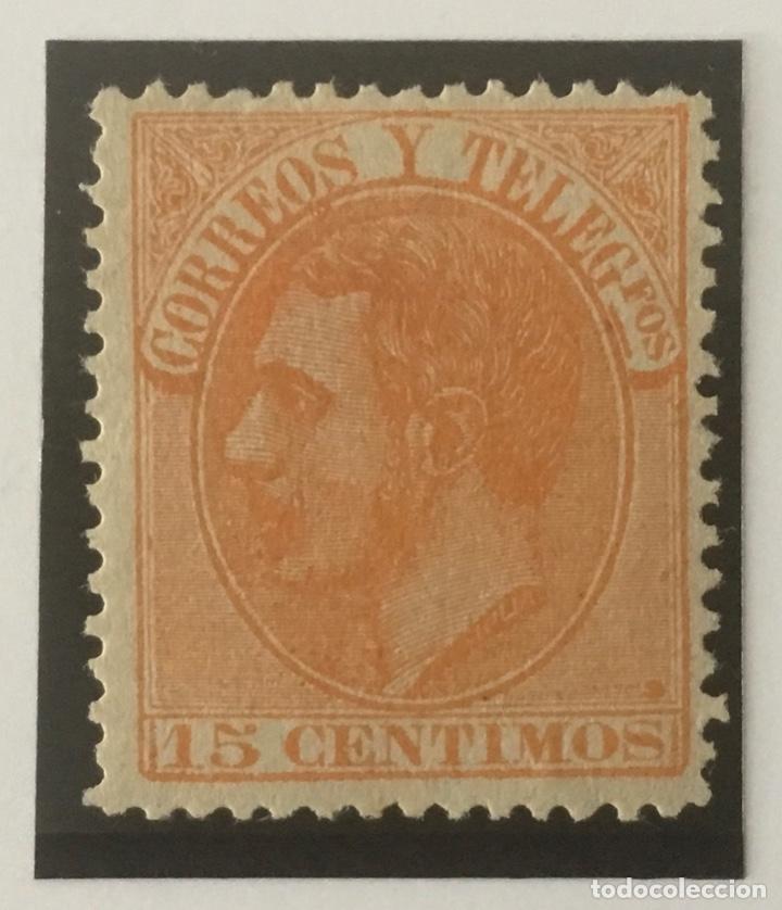 1882-ESPAÑA ALFONSO XII EDIFIL 210 MH* 15 CÉNTIMOS NARANJA - NUEVO - (Sellos - España - Alfonso XII de 1.875 a 1.885 - Nuevos)