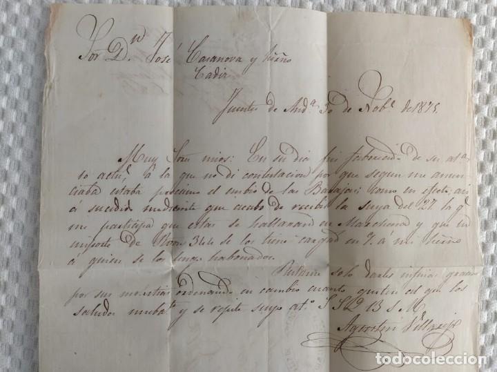 Sellos: CARTA DE LORA DEL RIO (SEVILLA) A CADIZ FRANQUEADA CON SELLOS EDIFIL 164 154 Impuesto de Guerra - Foto 4 - 40817822