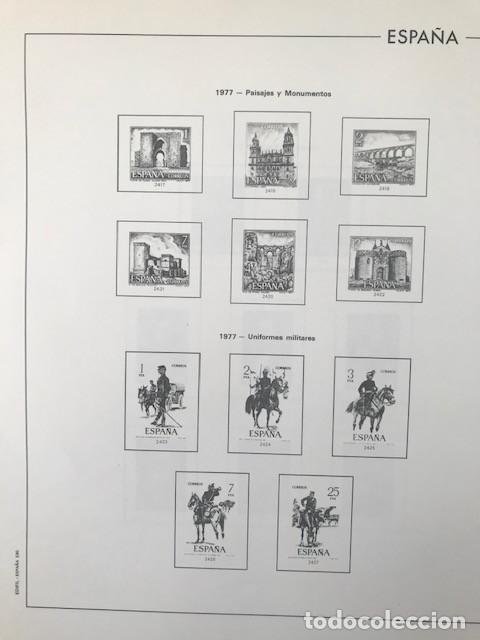 Sellos: Hojas Edifil España año 1977 montadas con filoestuches negros HE70 VER IMAGENES - Foto 5 - 212072346