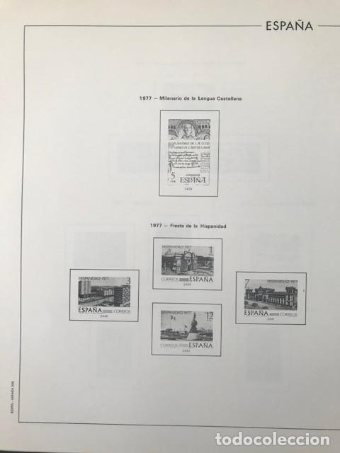 Sellos: Hojas Edifil España año 1977 montadas con filoestuches negros HE70 VER IMAGENES - Foto 8 - 212072346