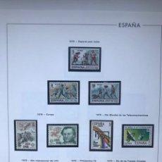 Sellos: ESPAÑA SELLOS AÑO 1979 COMPLETO CON HOJAS EDIFIL ESPAÑA AÑO 1979 HES70 79 VER IMAGENES. Lote 212074846