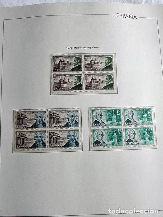 Sellos: España sellos año 1973 en bloque de 4 y Hojas edifil en negro HEBS70 73 VER IMAGENES - Foto 2 - 212079442