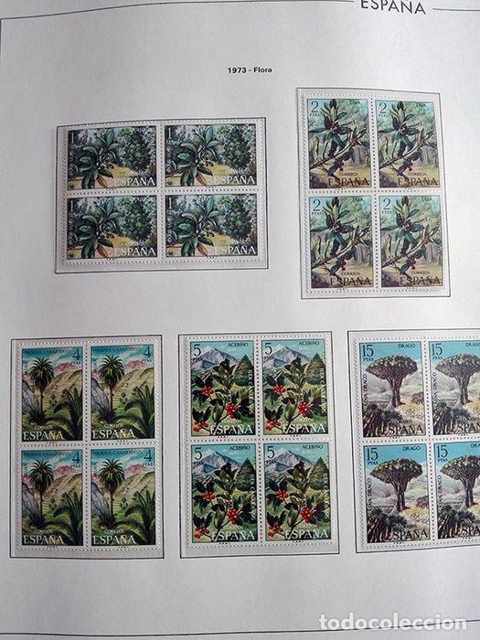 Sellos: España sellos año 1973 en bloque de 4 y Hojas edifil en negro HEBS70 73 VER IMAGENES - Foto 3 - 212079442