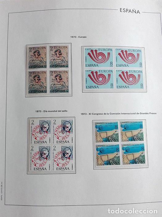 Sellos: España sellos año 1973 en bloque de 4 y Hojas edifil en negro HEBS70 73 VER IMAGENES - Foto 4 - 212079442