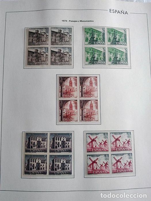 Sellos: España sellos año 1973 en bloque de 4 y Hojas edifil en negro HEBS70 73 VER IMAGENES - Foto 5 - 212079442