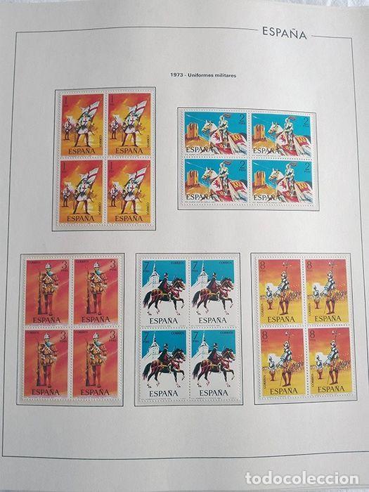 Sellos: España sellos año 1973 en bloque de 4 y Hojas edifil en negro HEBS70 73 VER IMAGENES - Foto 7 - 212079442