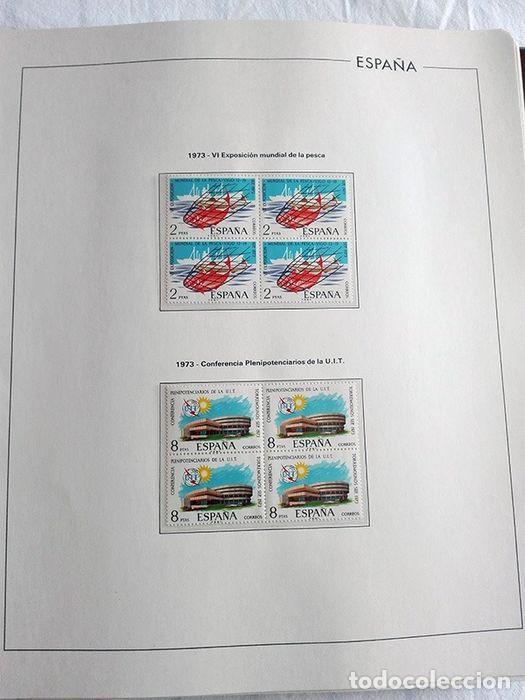 Sellos: España sellos año 1973 en bloque de 4 y Hojas edifil en negro HEBS70 73 VER IMAGENES - Foto 8 - 212079442