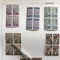 Sellos: ESPAÑA SELLOS AÑO 1973 EN BLOQUE DE 4 Y HOJAS EDIFIL EN NEGRO HEBS70 73 VER IMAGENES. Lote 212079442