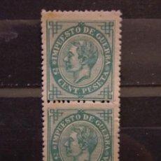 Timbres: AÑO 1876 ALFONSO XII IMPUESTO DE GUERRA NUEVO EDIFIL 183 VALOR 15 EUROS. Lote 212428193