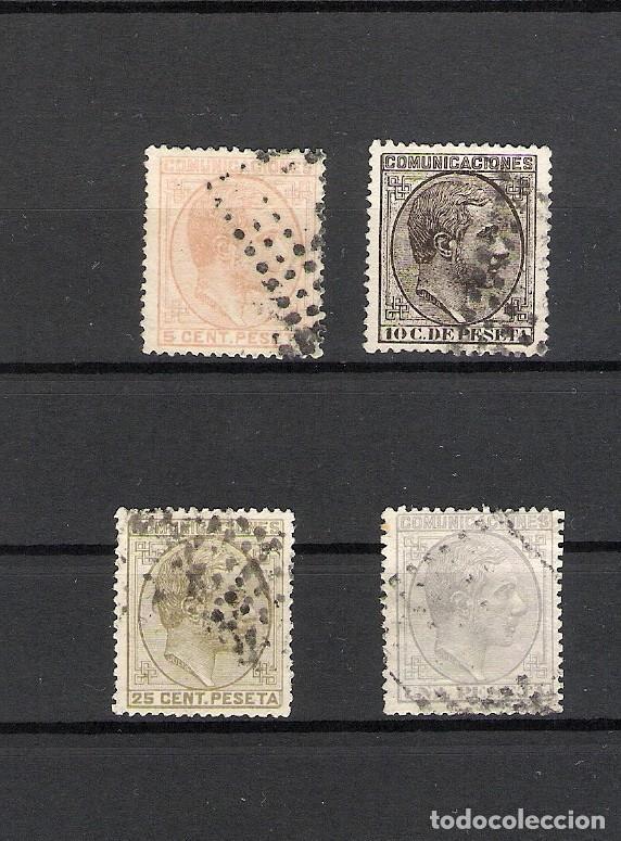 1878. LOTE ALFONSO XII. EDIFIL 191,192, 194 Y 197 (Sellos - España - Alfonso XII de 1.875 a 1.885 - Usados)