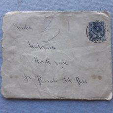 Sellos: SOBRE + CARTA CIRCULADA LA CORUÑA - LA HABANA. ABRIL DE 1901.. Lote 215918315