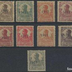 Sellos: GUINEA ESPAÑOLA. SELLOS DE ALFONSO XIII. CAT. EDIFIL 111/123*. SERIE NUEVA CON FIJASELLOS.. Lote 216987133