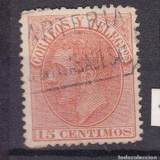 Selos: ALFONSO XII EDIFIL 210 MATASELLOS CARTERÍA SJ DE LAS ABADESAS (GERONA).. Lote 217392570