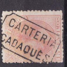 Selos: ALFONSO XII EDIFIL 210 MATASELLOS CARTERÍA CADAQUES (GERONA).. Lote 217392926