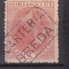 Selos: ALFONSO XII EDIFIL 210 MATASELLOS CARTERÍA BREDA (GERONA).. Lote 217392978