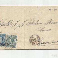 Francobolli: CIRCULADA Y ESCRITA 1876 DE GARRUCHA VERA ALMERIA A BARCELONA. Lote 217435351