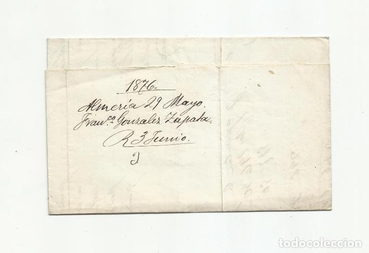 Sellos: circulada Y ESCRITA PEDIDO JABON I UNA CAJA DE SALCHICHON 1876 DE ALMERIA A BARCELONA - Foto 3 - 217457570
