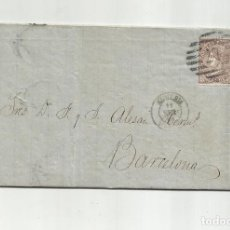 Sellos: CIRCULADA Y ESCRITA PRECIOS MAIZ Y SALCHICHON EN MAL ESTADO 1869 DE ALMERIA A BARCELONA. Lote 217458323